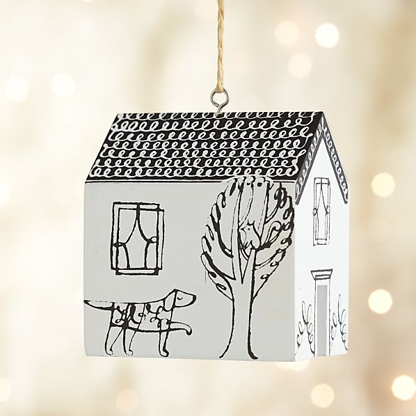 Dog and Cat House Ornament