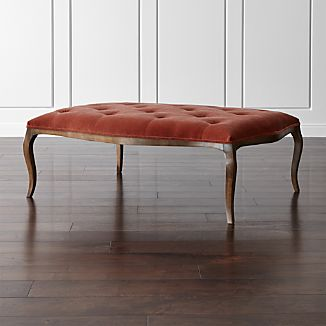 Dolce Black Walnut Cocktail Ottoman