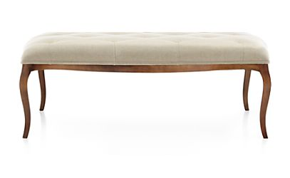 Dolce black walnut cocktail ottoman evere cream crate for Cocktail tables crate and barrel