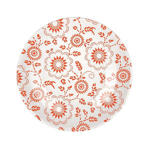 Dollie Orange Dessert Plate