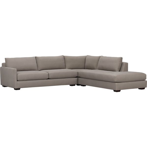 Domino 3-Piece Left Arm Sofa Sectional