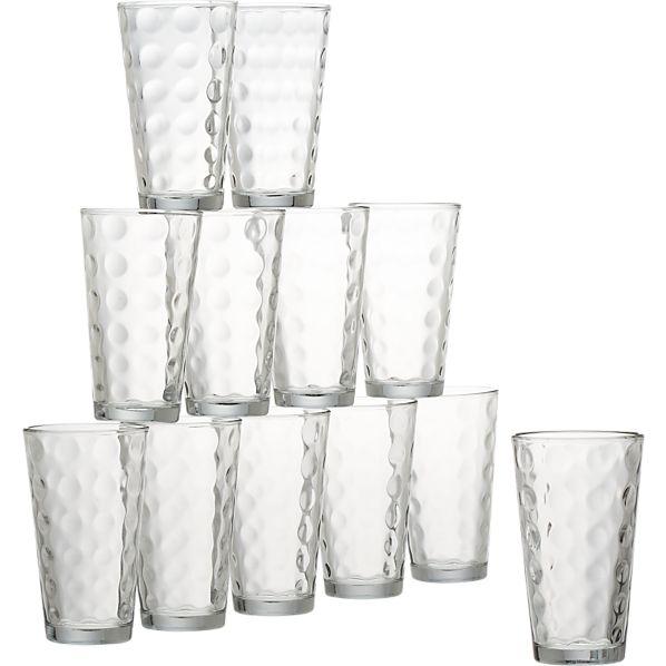 Domino Glass Tumblers Set of 12