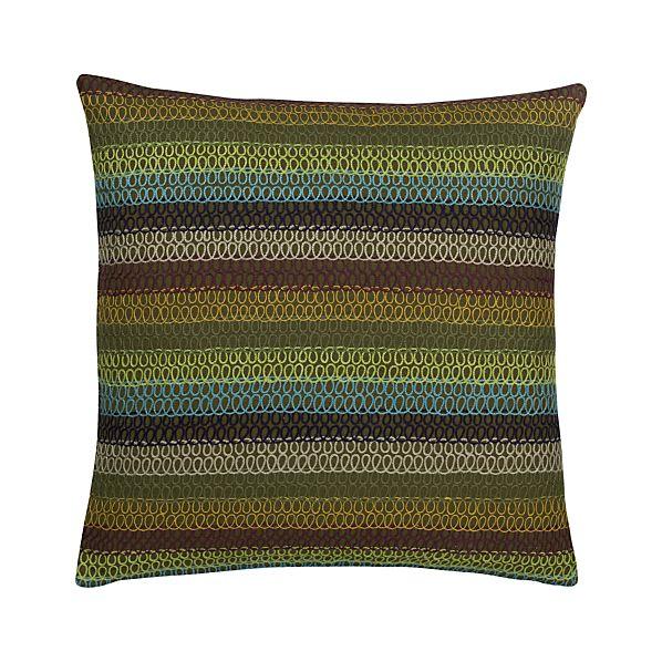 Doodle Green Pillow