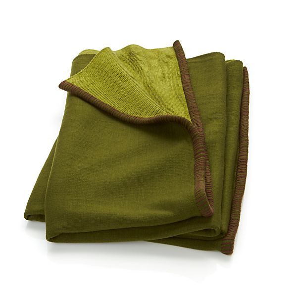 Doppio Green Throw