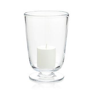 Doria Small Glass Hurricane Candle Holder