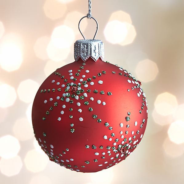 Red Dot Burst Ball Ornament