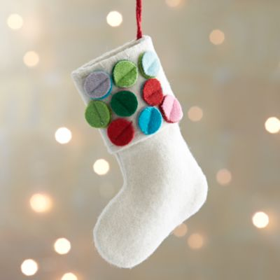 Dot Cuff Stocking Ornament