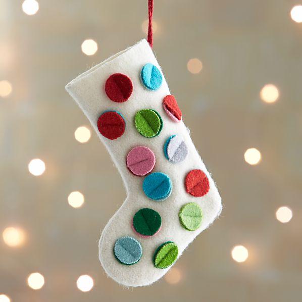 Dot Stocking Ornament