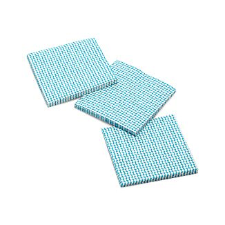Set of 20 Turquoise Dots Beverage Napkins