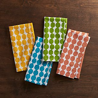 Set of 4 Dots Multi Dinner Napkins