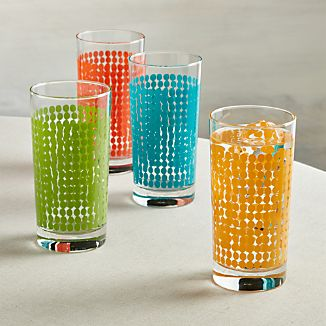 Set of 4 Dots Tumblers