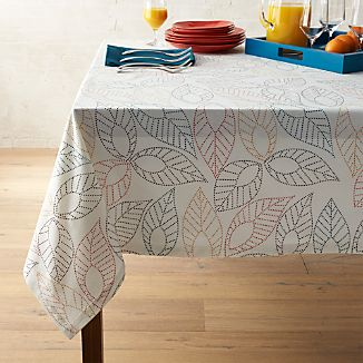 "Dotted Leaf 60""x90"" Tablecloth"