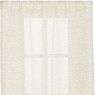 Dottie Yellow Sheer 48x108 Curtain Panel