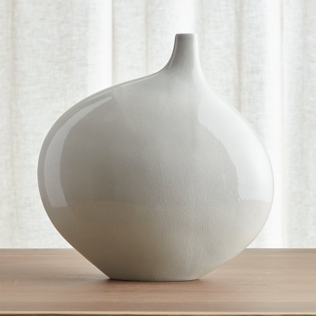Dove Grey Large Vase Crate And Barrel