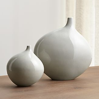Dove Grey Vases