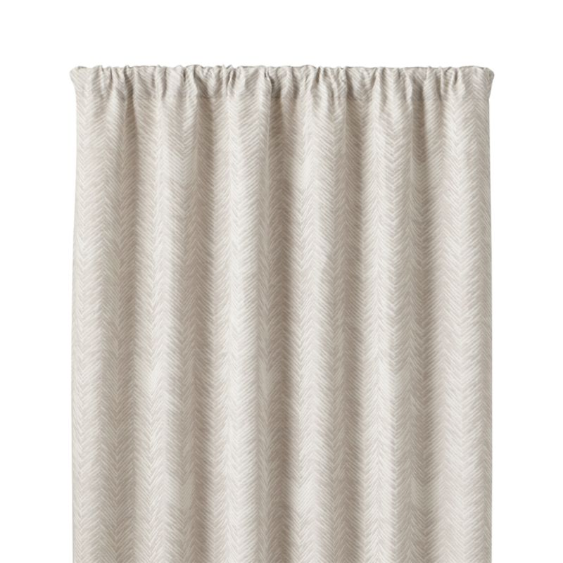 Dover Cream Taupe 50 Quot X96 Quot Curtain Panel Crate And Barrel