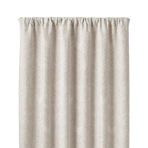 "Dover Cream/Taupe 50""x84"" Curtain Panel"