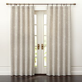 Dover Cream/Taupe Curtain Panels
