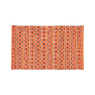 Dover Mandarin Orange Cotton Rag Rug