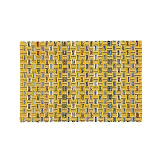 Dover Yellow Cotton 2'x3' Rag Rug