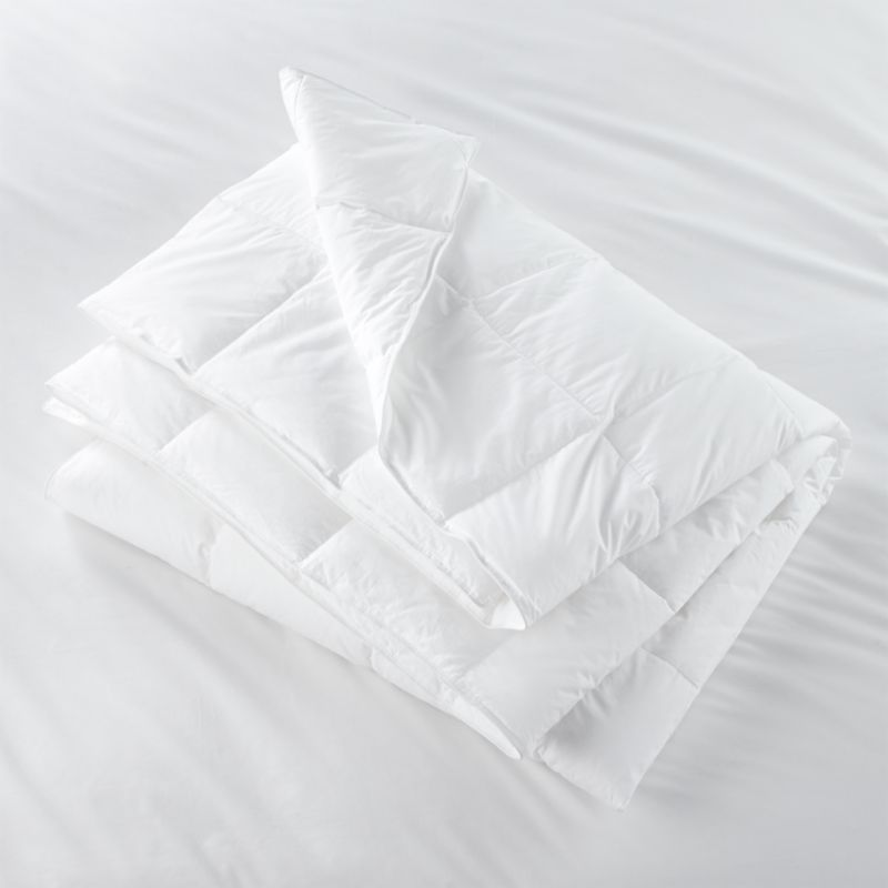 All-season comfort in a quality down alternative. Italian synthetic microfiber clusters have a down-like feel and superior loft. Shell is 230-thread-count cambric cotton with a sewn-through construction that keeps fill in place. Down duvet insert also available.<br /><br /><NEWTAG/><ul><li>100% cambric cotton cover</li><li>Microfiber cluster fill</li><li>Sized to fit our duvet covers</li><li>Machine wash in warm water, like colors, no bleach</li><li>Tumble dry, medium heat until thoroughly dry</li><li>For best results, professional laundering is recommended</li><li>Do not dry clean</li><li>Made in multiple countries</li></ul>