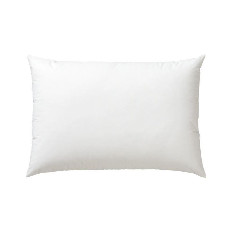 Lofty polyester fiberfill cuddles just like feather down as a soft and sumptuous hypoallergenic alternative. Bed pillows also available.<br /><br /><NEWTAG/><ul><li>100% polyester fill</li><li>100% cotton shell</li><li>29 oz. fill</li><li>Machine wash, tumble dry low</li><li>Do not dry clean</li><li>Made in China</li></ul>