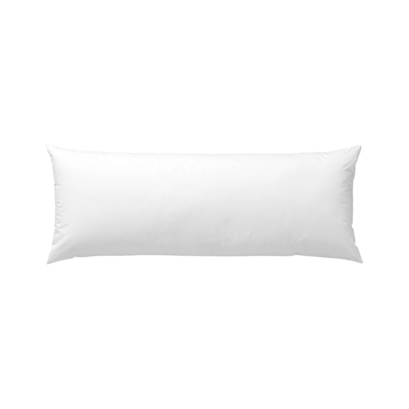 Plump up an accent pillow cover with a plush blend of duck feathers and down. Cotton cambric shell. Overlocked safety stitching finishes the edges. Bed pillows also available.<br /><br /><NEWTAG/><ul><li>100% cotton cambric cover, 180-thread-count</li><li>95% duck feather, 5% down fill</li><li>Machine wash, tumble dry low</li><li>For best results, professional laundering is recommended</li><li>Made in China</li></ul>