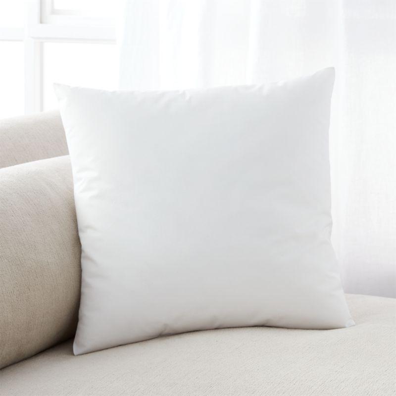Lofty polyester fiberfill cuddles just like feather down as a soft and sumptuous hypoallergenic alternative. Bed pillows also available.<br /><br /><NEWTAG/><ul><li>100% polyester fill</li><li>100% cotton shell</li><li>18 oz. fill</li><li>Machine wash, tumble dry low</li><li>For best results, professional laundering is recommended</li><li>Made in China</li></ul>