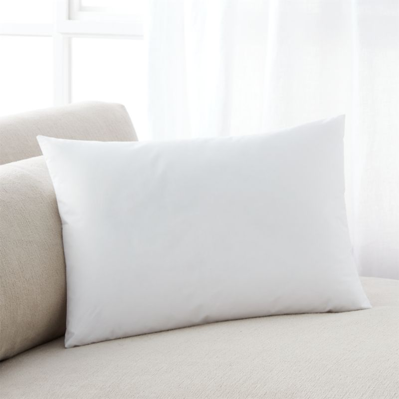 Lofty polyester fiberfill cuddles just like feather down as a soft and sumptuous hypoallergenic alternative. Bed pillows also available.<br /><br /><NEWTAG/><ul><li>100% polyester fill</li><li>100% cotton shell</li><li>16 oz. fill</li><li>Machine wash, tumble dry low</li><li>For best results, professional laundering is recommended</li><li>Made in China</li></ul>
