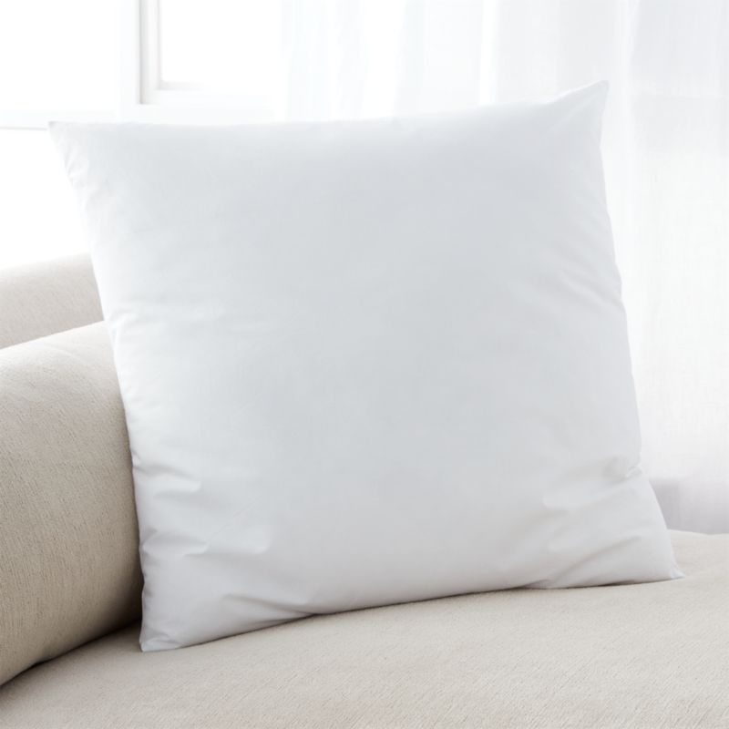 Lofty polyester fiberfill cuddles just like feather down as a soft and sumptuous hypoallergenic alternative. Bed pillows also available.<br /><br /><NEWTAG/><ul><li>100% polyester fill</li><li>100% cotton shell</li><li>Machine wash, tumble dry low</li><li>29 oz. fill</li><li>For best results, professional laundering is recommended</li><li>Made in China</li></ul>