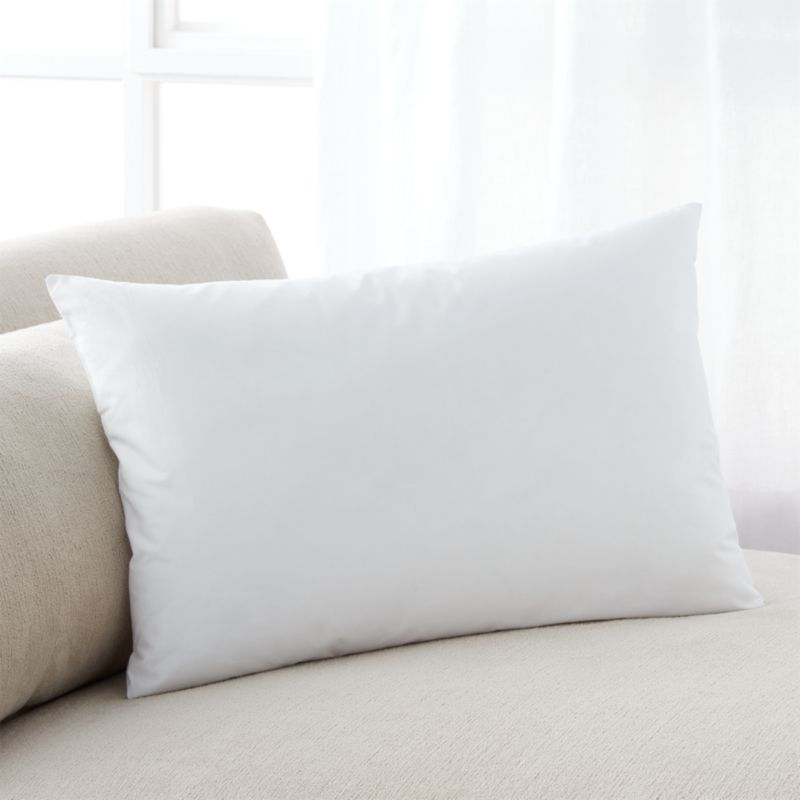 Lofty polyester fiberfill cuddles just like feather down as a soft and sumptuous hypoallergenic alternative. Bed pillows also available.<br /><br /><NEWTAG/><ul><li>100% polyester fill</li><li>100% cotton shell</li><li>19 oz. fill</li><li>Machine wash, tumble dry low</li><li>For best results, professional laundering is recommended</li><li>Made in China</li></ul>
