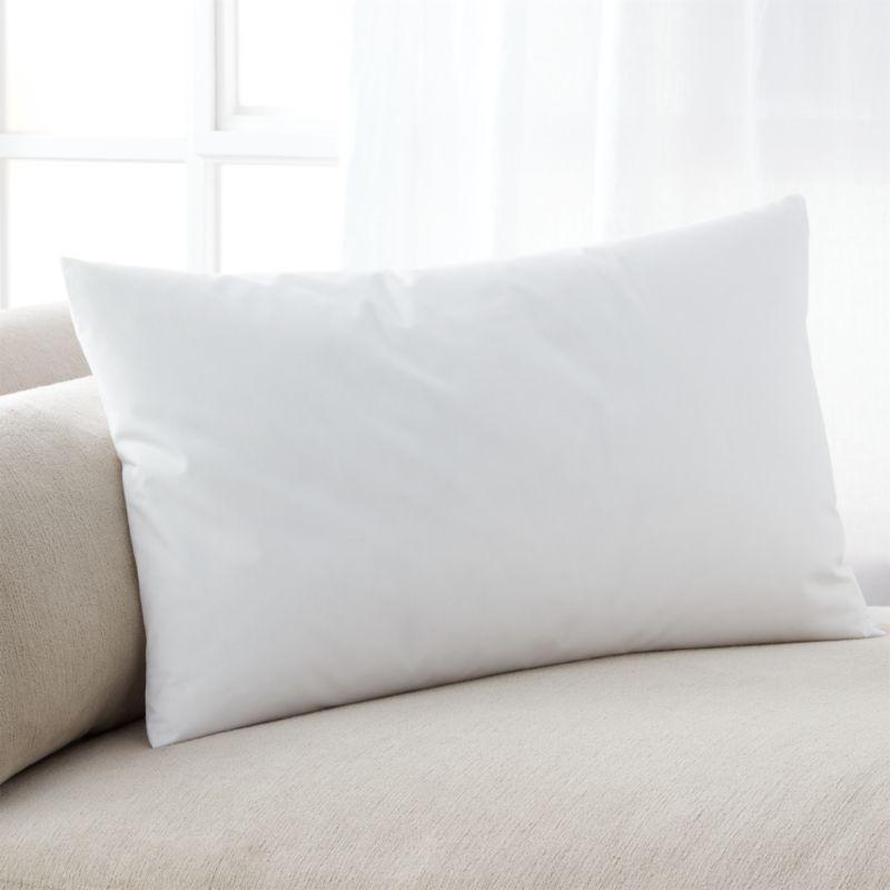 Lofty polyester fiberfill cuddles just like feather down as a soft and sumptuous hypoallergenic alternative. Bed pillows also available.<br /><br /><NEWTAG/><ul><li>100% polyester fill</li><li>100% cotton shell</li><li>29 oz. fill</li><li>Machine wash, tumble dry low</li><li>For best results, professional laundering is recommended</li><li>Made in China</li></ul>
