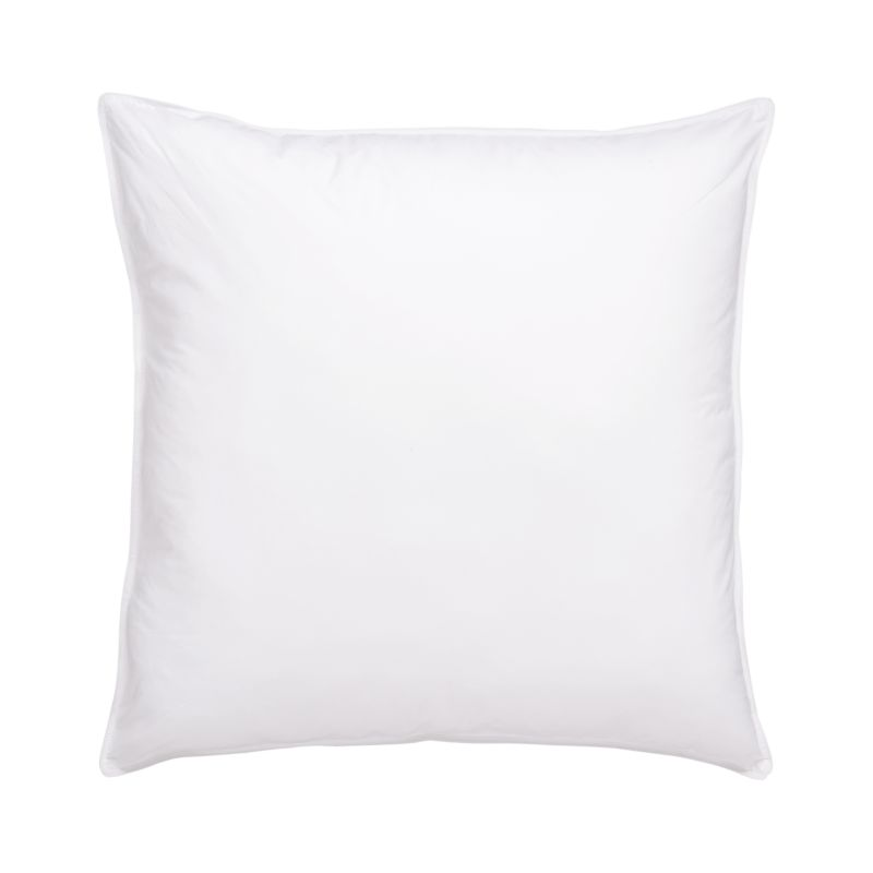 "For those who prefer a firmer pillow, the feathers in this blended-fill pillow feature natural ""spines,"" which make for a more substantial feel. The core support of the feathers is wrapped in the fluffy luxury of domestic duck down for a superior-quality pillow with nothing but pure white fill. The preshrunk cambric cotton shell is closely woven to keep the fill inside. <a href=/down-alternative-bed-pillows/f23129>Down Alternative Bed Pillows</a> and <a href=/premium-down-bed-pillows/f58248>Premium Down Bed Pillows</a> also available.<br /><br /><NEWTAG/><ul><li>100% cambric cotton shell (230-thread-count)</li><li>80% white duck feather, 20% snow-white domestic down</li><li>Finished with double-needle stitching and cotton cording</li><li>Machine wash in warm water, like colors, no bleach</li><li>Tumble dry, medium heat until thoroughly dry</li><li>For best results, professional laundering is recommended</li><li>Do not dry clean</li><li>Made in USA and China</li></ul><br />"