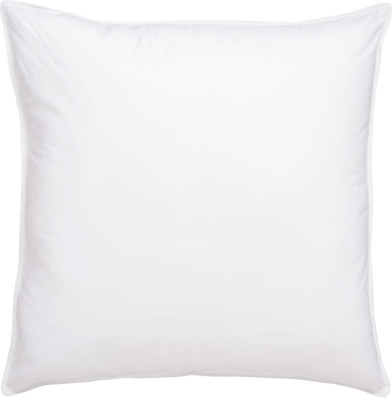 """For those who prefer a firmer pillow, the feathers in this blended-fill pillow feature natural """"spins,"""" which make for a more substantial feel. The core support of the feathers is wrapped in the fluffy luxury of domestic duck down for a superior-quality pillow with nothing but pure white fill. The preshrunk cambric cotton shell is closely woven to keep the fill inside. <a href=/down-alternative-bed-pillows/f23129>Down Alternative Bed Pillows</a> and <a href=/premium-down-bed-pillows/f58248>Premium Down Bed Pillows</a> also available.<br /><br /><NEWTAG/><ul><li>100% cambric cotton shell (230-thread-count)</li><li>80% white duck feather, 20% snow-white domestic down</li><li>Finished with double-needle stitching and cotton cording</li><li>Machine wash in warm water, like colors, no bleach</li><li>Tumble dry, medium heat until thoroughly dry</li><li>For best results, professional laundering is recommended</li><li>Do not dry clean</li><li>Made in USA and China</li></ul><br />"""
