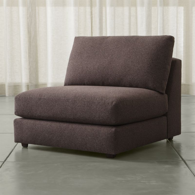 Drake armless chair luxe gravel crate and barrel for Crate and barrel armless chair