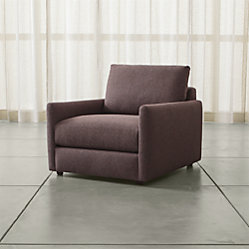 Drake Right Arm Chaise Lounge Luxe Gravel Crate And Barrel