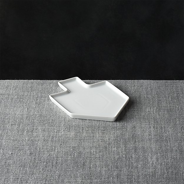 Dreidel Shaped White Appetizer Plate