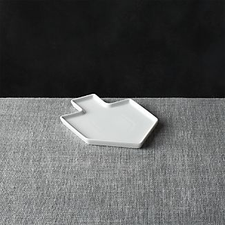 Dreidel Shaped White Appetizer Plate