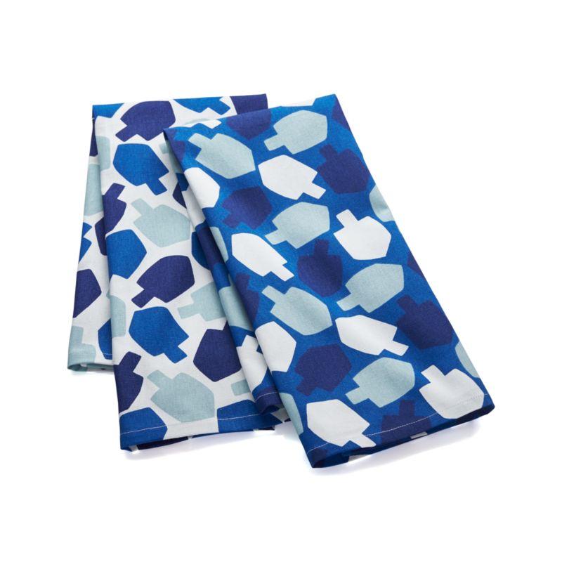 Dreidel Dish Towels Set of Two