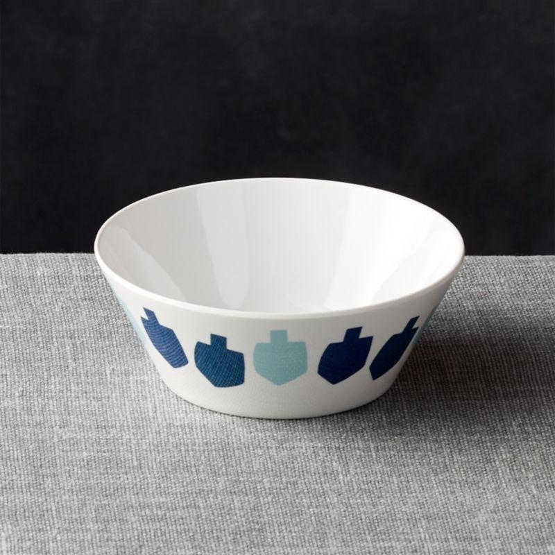 Dreidel Melamine Bowl