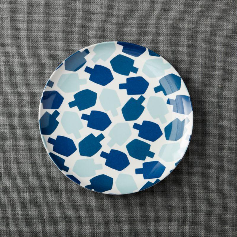 Dreidel Melamine Plate