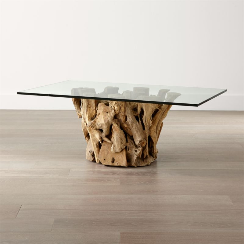 Crate And Barrel Black Marble Coffee Table: Driftwood Coffee Table
