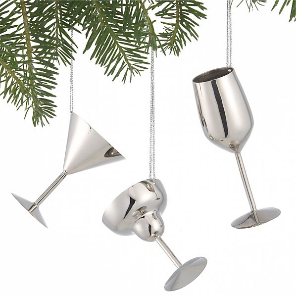 Set of 3 Drink Ornaments