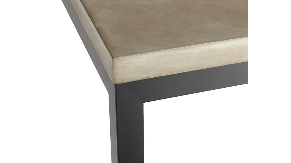 Concrete Top/ Natural Dark Steel Base 48x28 Parsons High Dining Table