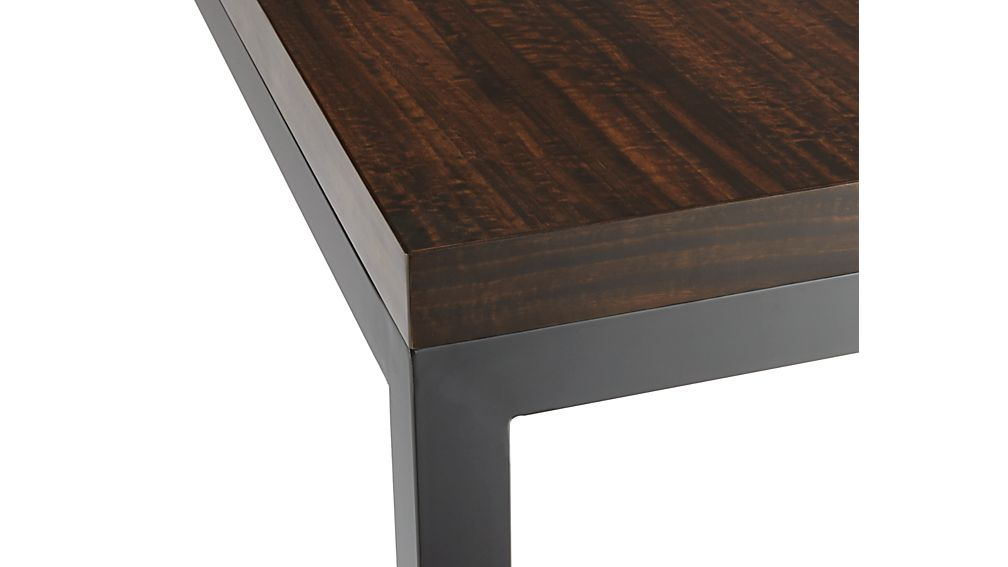 Myrtle Top/ Natural Dark Steel Base 48x28 Parsons High Dining Table