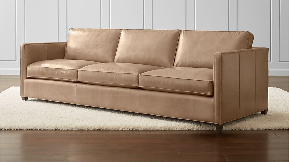 Dryden Leather 3 Seat 103 Quot Grande Sofa Libby Mushroom