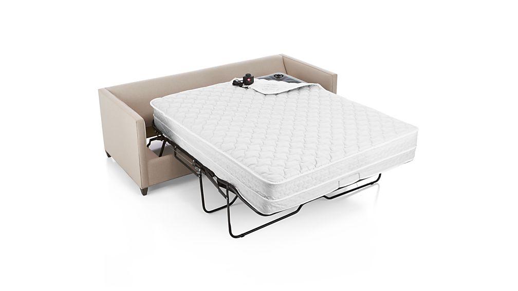 Dryden Queen Sleeper Sofa With Air Mattress Diamond Flax