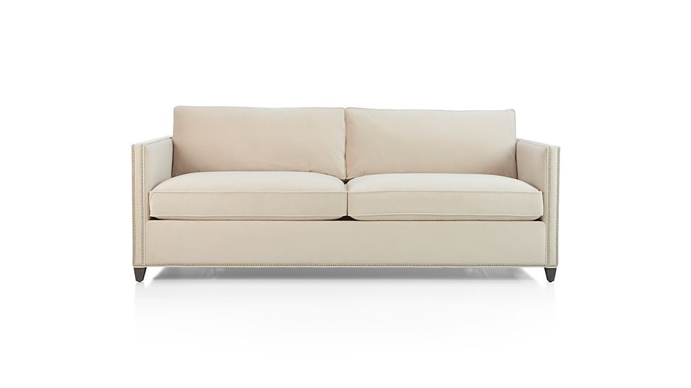 Dryden Queen Sleeper Sofa With Nailheads Wheat Crate