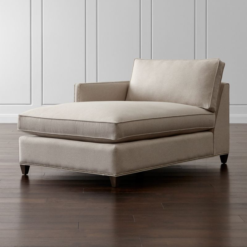 Dryden Left Arm Chaise with Nailheads