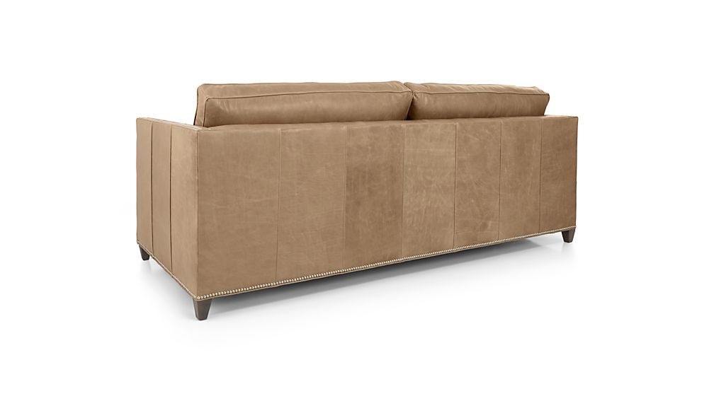 Dryden Leather Queen Sleeper Sofa With Nailheads And Air